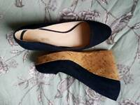 Navy wedges size 6 next