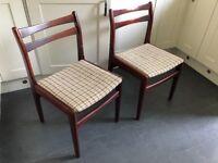 Tep mahogany effect chairs