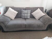 3 seater sofa & swivel chair
