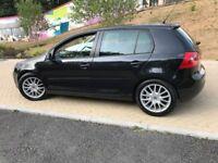 2008 VOLKSWAGEN GOLF GT TDI 140 BHP 6 SPEED IN BLACK FULL LEATHER LOW MILEAGE