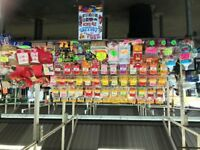 full stock for a 18 foot market stall or shop sweets, lollipops,giant jelly sweets, giant cables