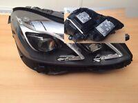 Left hand drive Bixenon LED headlight Right side Mercedes E 2009 - 2016 W212 LHD MOT TUV APK CT ITV