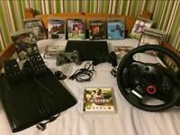 Big Bundle Ps3 Super Slim 500GB + Logitech Driving Force GT + 11 Games + 2 Controllers