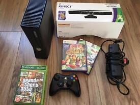 Xbox 360 S 250gb console and Kinect