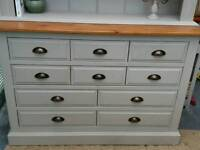 Hand painted Solid Pine Merchant Drawers/ Sideboard