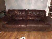 DFS 3 seater leather sofa, OMNI coffee table
