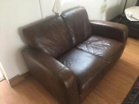 Leather sofa now reduced must go by Monday