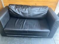 Leather IKEA sofa-bed