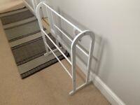 White wooden towel rail