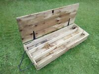 Wooden box crates ideal for garden planters
