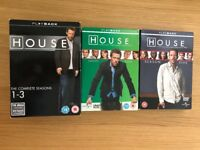 House M.D. DVDs seasons 1-5