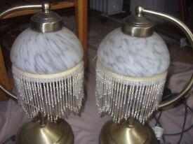 Pair of Art Nouveau style lamps