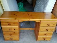 Pine study desk.Can Deliver