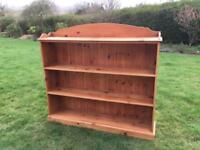 Solid pine bookcase large