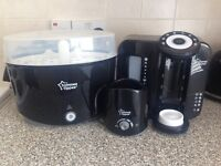 Tommee Tippee Perfect Prep Machine, Bottle steriliser and bottle warmer in Black