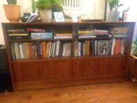Wooden Sliding Door Cabinet/Bookcase