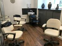 Hair salon chairs and hair wash chair
