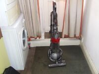red dyson dc25 ball reconditioned with tools upright bagless hoover and guaranteed.