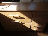 2 x beech chest of drawers