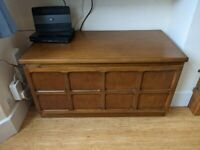 A VINTAGE/RETRO EARLY 80s NATHAN TV/MEDIA UNIT IN NICE PRE-LOVED CONDITION FREE LOCAL DELIVERY