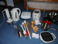 Kitchen Bundle - electricals, pans, utensils, clothes airer etc