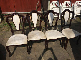4 Dining table chairs for sale