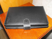 DURAGADGET Black Faux Leather Keyboard Tablet Cases