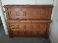 Double Bed, Chunky Heavy Wood Frame, Free Local Delivery