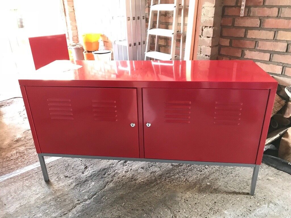 Ikea Ps Metal Cabinets Red Three Available