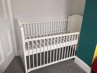 White cot without mattress