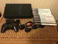 PlayStation 2 console and young kids games. Ps2