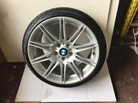 BMW E90 E91 E92 E93 F30 MV4 ALLOY MINT WHEEL WITH GOOD TYRE CAN POST ANYWHERE IN UK