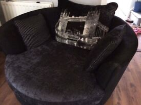 Cuddle and 3 seater sofa with free coffee table