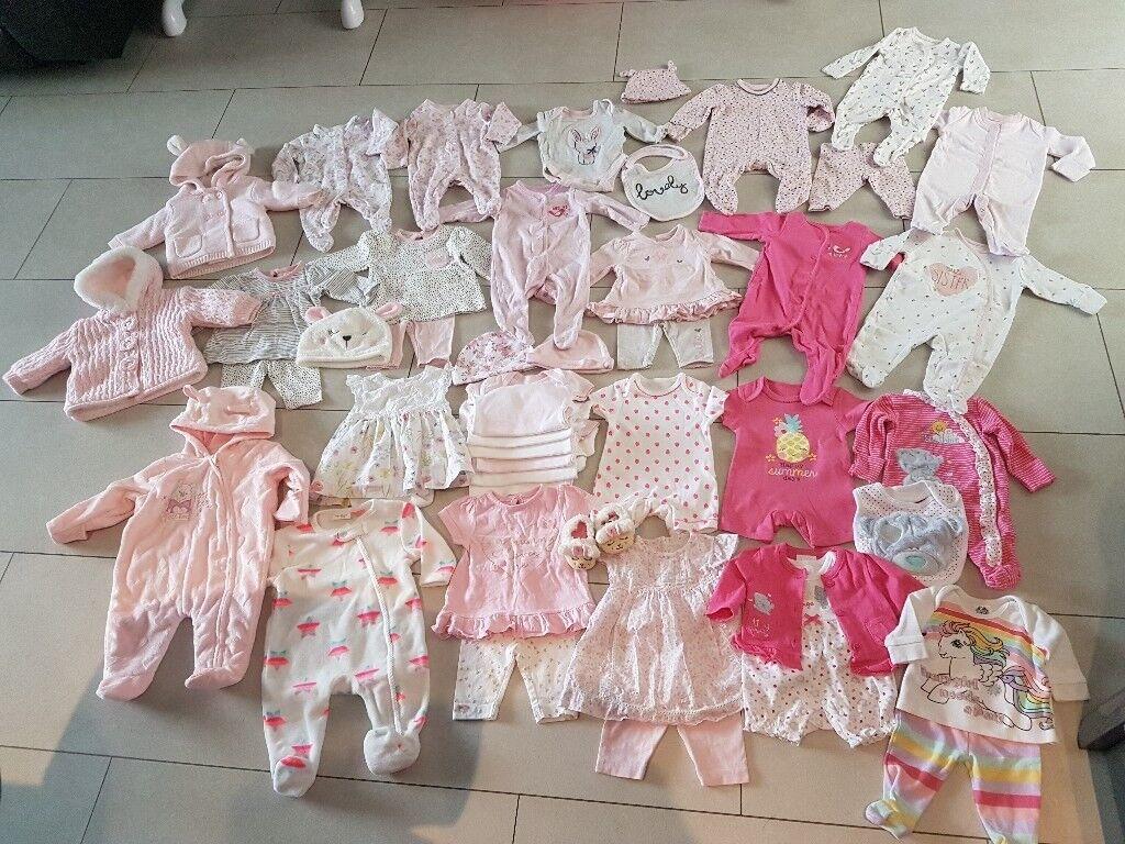 1249220b1 Newborn baby girls clothes bundle(next.mothercare ect)