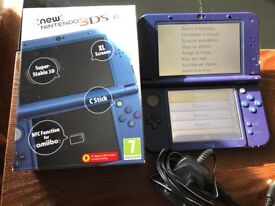 NEW NINTENDO 3DS XL with CHARGER
