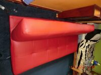 Patsy leather effect clic clac sofa bed red