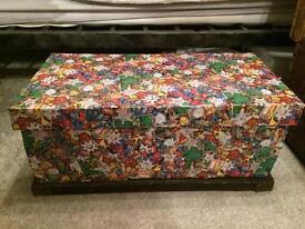 Wooden marvel toy box