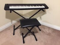 Yamaha Piaggero NP-12B Digital Piano/Keyboard - Excellent As New Condition