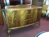 Vintage Mahogany Sideboard on Queen Ann Legs