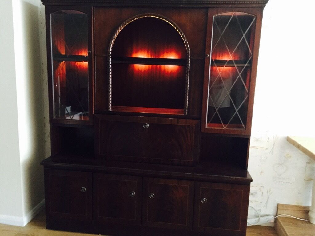 Large dresser dispay unit with buit in lights