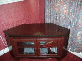 TV Cabinet Mahogany Effect