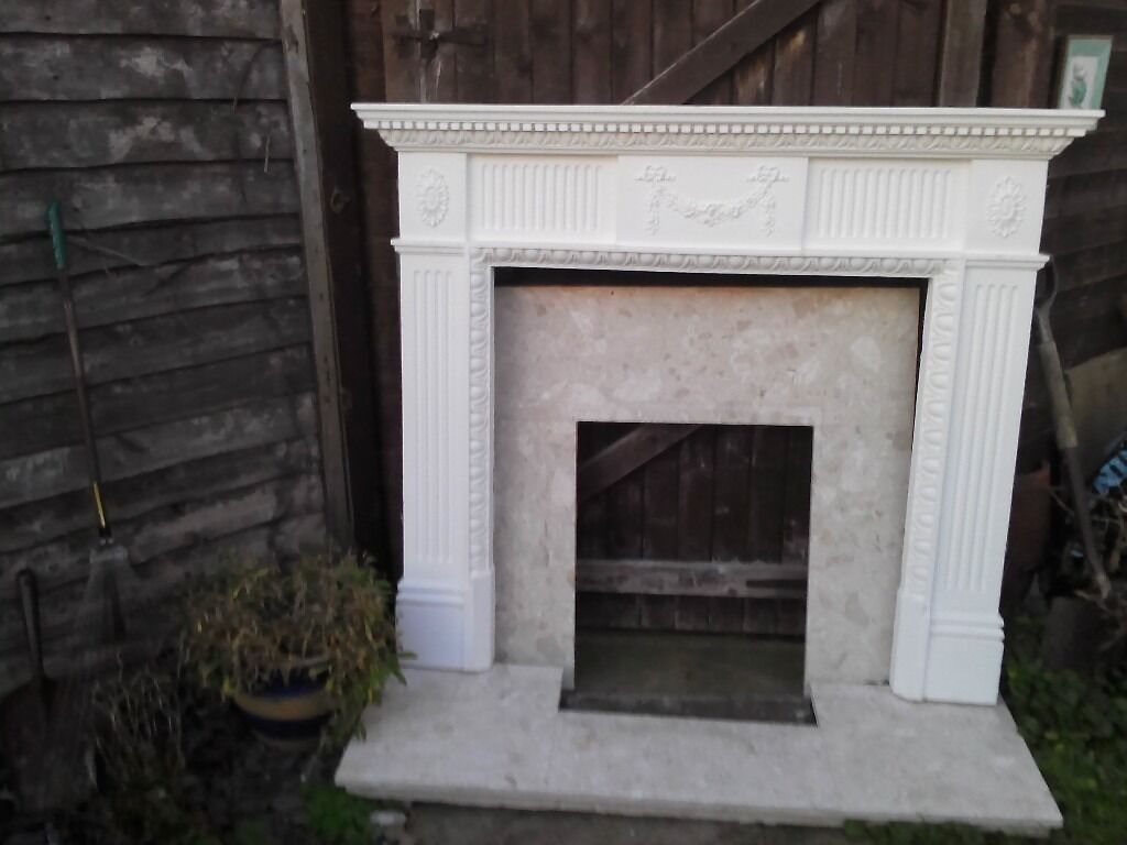 bargain complete fireplace includes marble surround and hearth