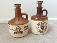 Vintage Major Mitchell's and Dr Jurd's Port Jug Decanters