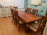 7ft Sheesham wood dining table