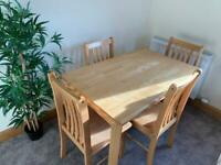 Table and 4 Chairs - FREE DELIVERY
