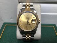 Rolex datejust 16233 diamond dial original box original papers