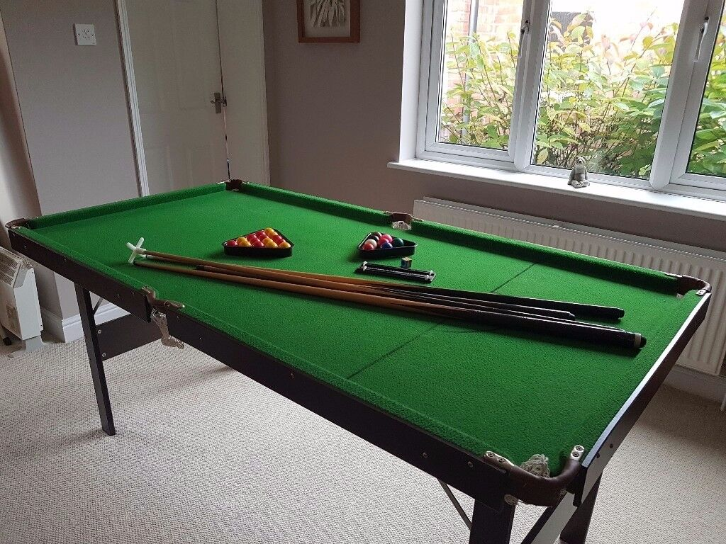 Pool / Snooker Table 6ft x 3ft , height 2ft 8in (180cm x 95cm x 80cm )