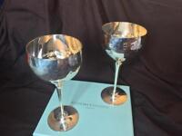 CULINARY CONCEPTS: SILVER PLATED WINE GOBLETS (1 pair)