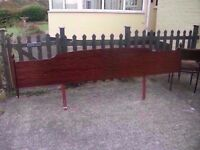 Large Dark Wood Headboard Delivery available £10