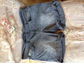 Superdry grey denim shorts